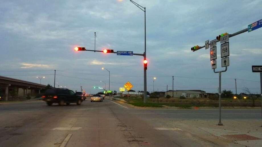 Where Andrews Highway and Loop 250 meet there were 40 total vehicular accidents in August, September and October, according to the Midland Police Department Photo: Midland Reporter-Telegram