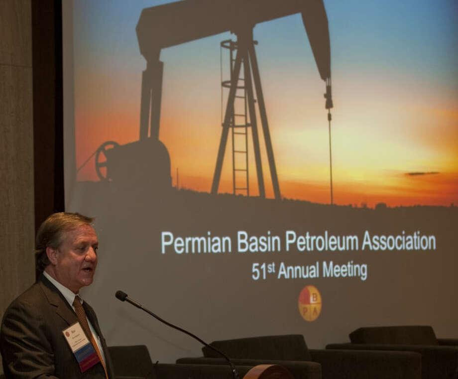 Ben Shepperd welcomes everyone Thursday morning to the annual Permian Basin Petroleum Association meeting. Tim Fischer\Reporter-Telegram Photo: Tim Fischer