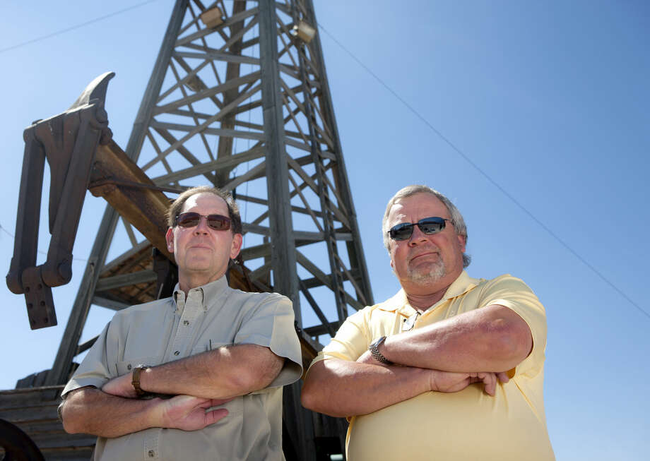 Tony Fry (left), executive director of the Permian Basin International Oil Show, and Larry Wadzeck (right), president of the Permian Basin International Oil Show, photographed Sept. 30, 2014 for MRT special publications outside the Ector County Coliseum in Odessa. James Durbin/Reporter-Telegram Photo: James Durbin