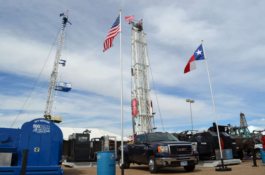 Finished exhibits at the Permian Basin International Oil Show.