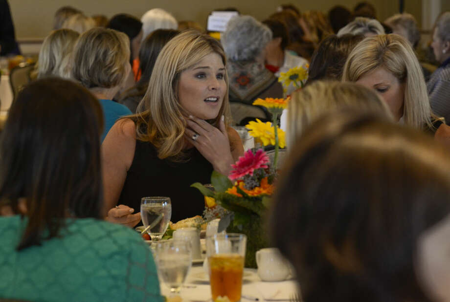 Jenna Bush Hager talks with others at her table before speaking Thursday during the Power of the Purse luncheon. Tim Fischer\Reporter-Telegram Photo: Tim Fischer
