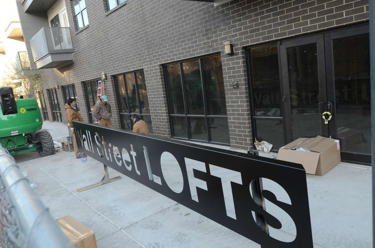 Construction at the Wall Street Lofts on Nov. 14. James Durbin/Reporter-Telegram