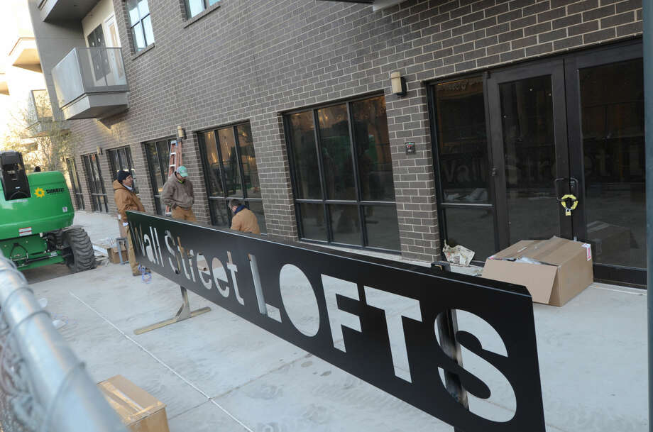 Construction at the Wall Street Lofts on Nov. 14. James Durbin/Reporter-Telegram