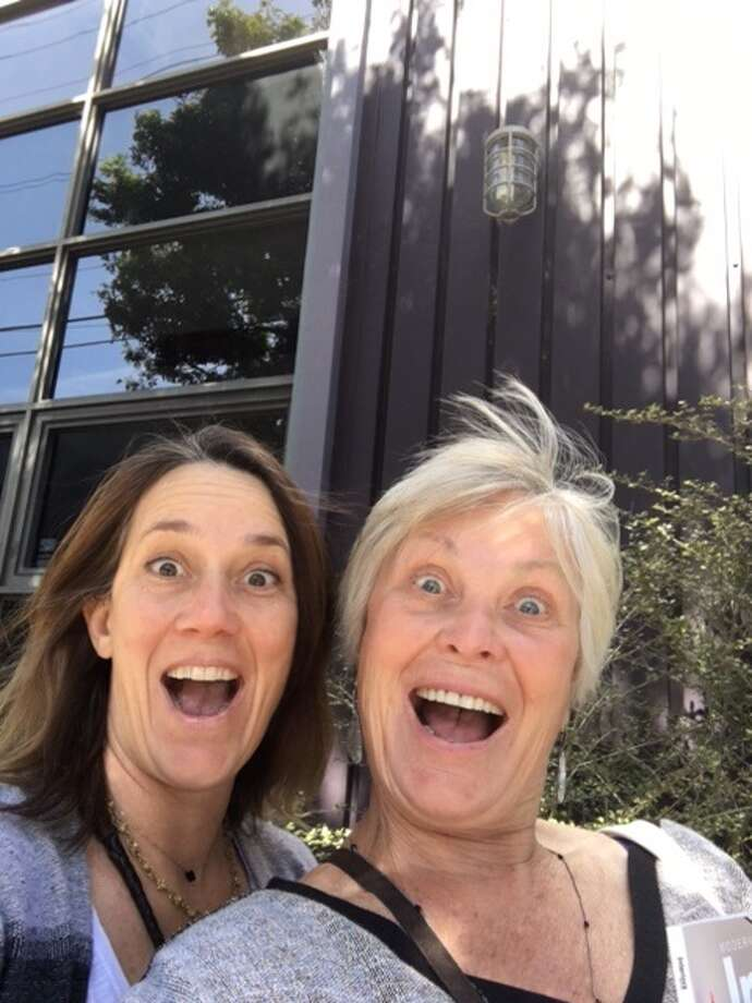 I love this totally spontaneous selfie we took at SF Design Center. I am not blonde and blue eyed like my mom, but you can see how personality and mannerisms shine through. Photo: April Kelly