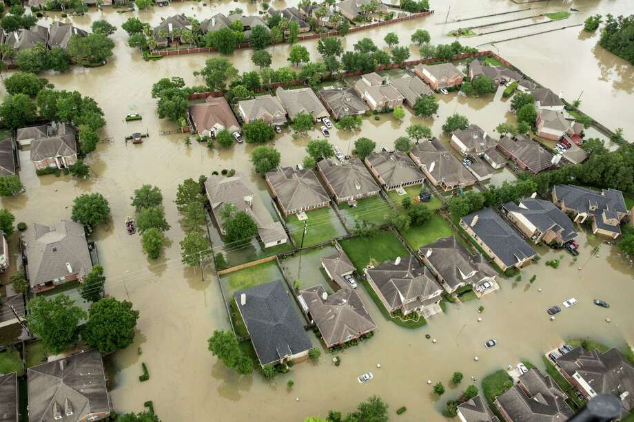 The Wimbledon Champions Park subdivision in the Cypresswood area was inundated by floodwaters in last month's storms. Photo: Brett Coomer, Staff / © 2016 Houston Chronicle