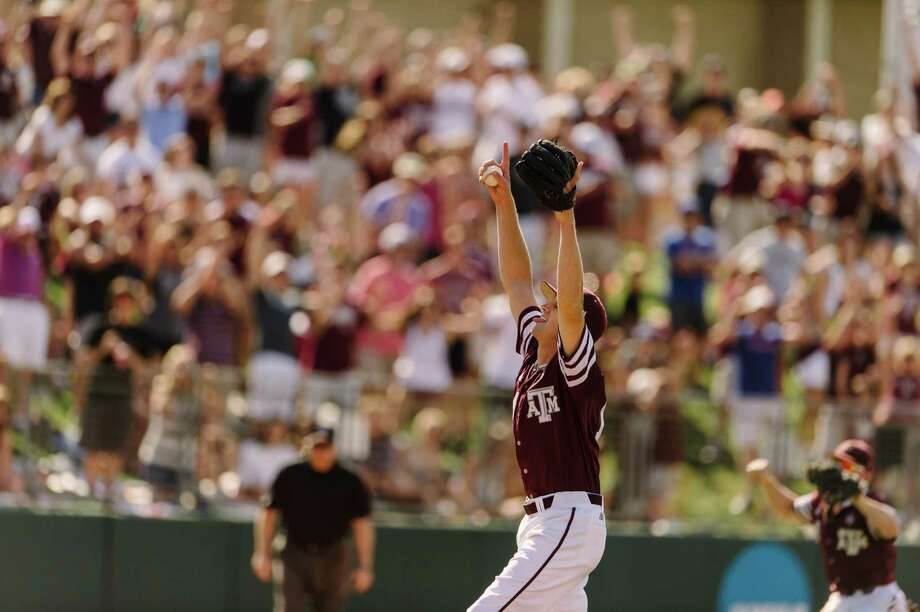 Texas A&tcher Kyle Simonds threw a no-hitter on Saturday, May 7 vs. Vanderbillt. Simonds threw the program's 12th no-hitter in history and ninth by an individual in the No. 2 Aggies' 3-0 victory over No. 10 Vanderbilt on Saturday. Photo: Thomas Campbell, Texas A& Athletics / Thomas Campbell/Texas A&M Athletics