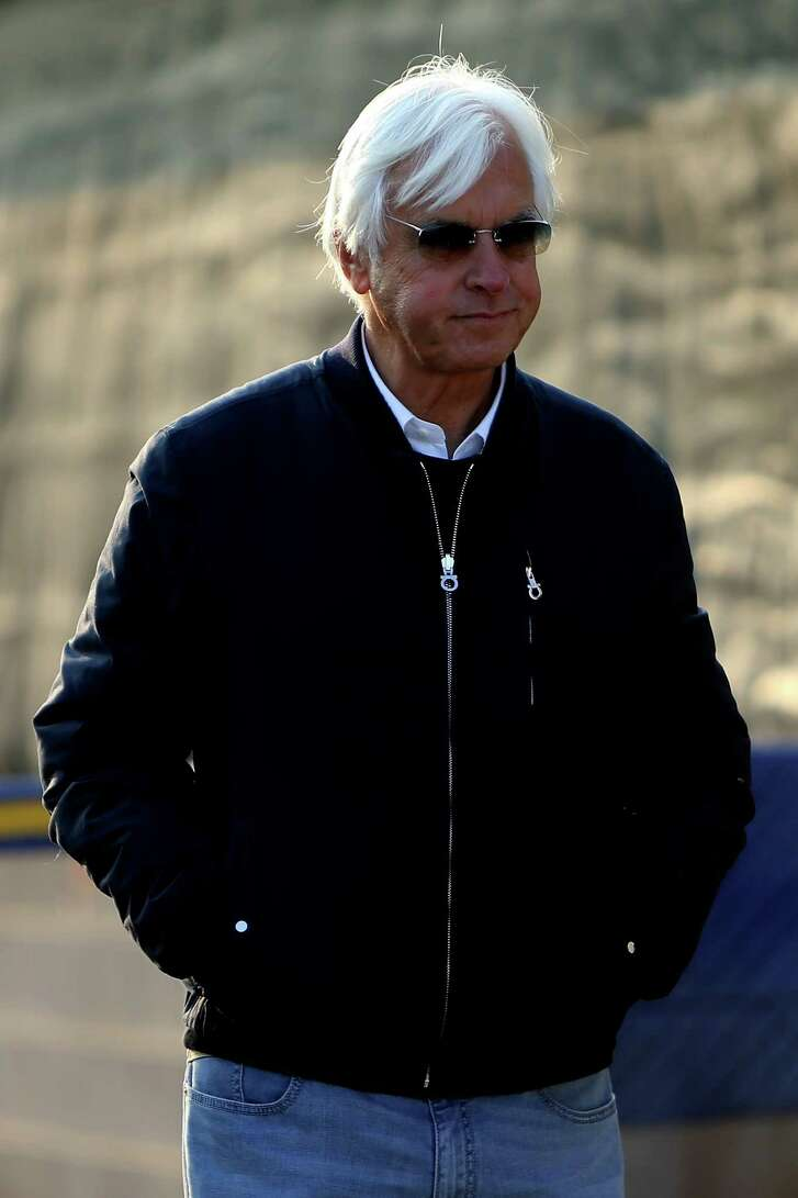 LOUISVILLE, KY - MAY 06:  Trainer Bob Baffert walks in the barn area during morning training for the Kentucky Derby at Churchill Downs on May 06, 2016 in Louisville, Kentucky.  (Photo by Michael Reaves/Getty Images)
