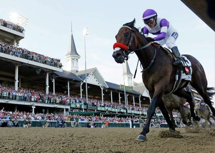 Mario Guitierrez rides Nyquist to victory during the 142nd running of the Kentucky Derby horse race at Churchill Downs Saturday, May 7, 2016, in Louisville, Ky. (AP Photo/David J. Phillip)