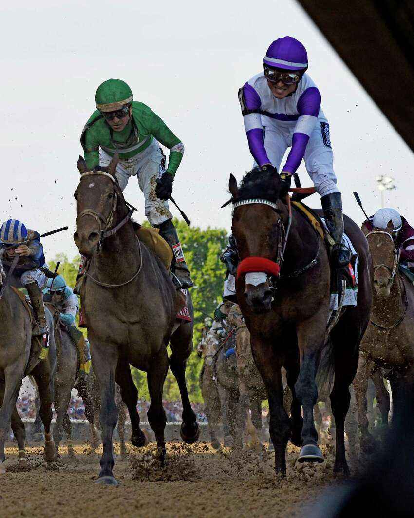 Nyquist ridden by jockey Mario Gutierrez wins the 142nd running of the Kentucky Derby May 7, 2016 at Churchill Downs in Louisville, K.Y. (Skip Dickstein/Times Union)