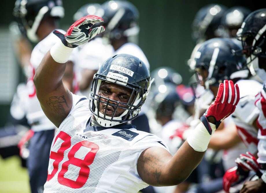 Rookie D.J. Reader is eager to soak up as much knowledge as he can from fellow defensive linemen Vince Wilfork and J.J. Watt. Photo: Brett Coomer, Staff / © 2016 Houston Chronicle