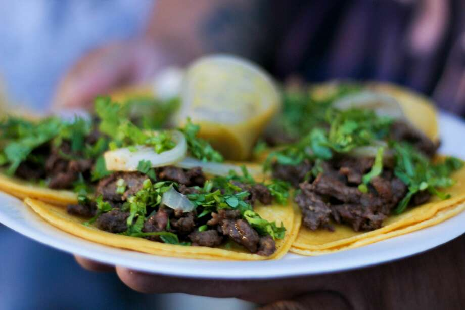 San Antonians love tacos, period. When you gather some of the best taco serving food trucks in the city and mix them all into a huge taco competition, then loosen those belts a notch or two. This year's Taco Truck Throwdown is on Sunday, May 27, 2018, at the VFW Post 67. Photo: By Jason Gaines, For MySA.com