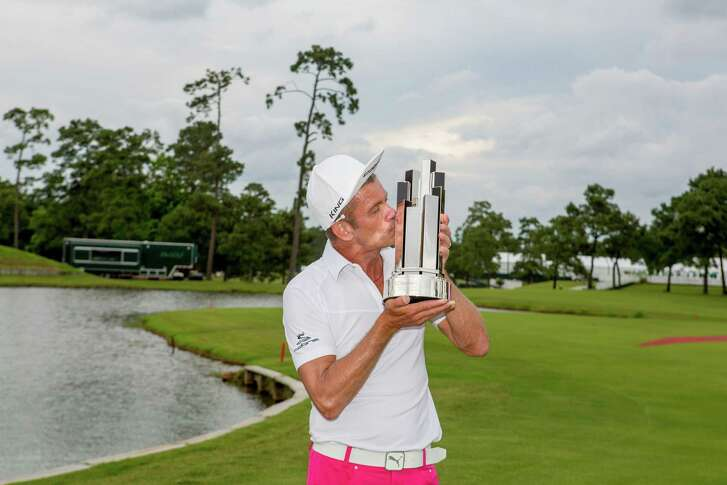 Jesper Parnevik reacquaints himself with the customs of winning a tournament after his first Champions Tour victory.