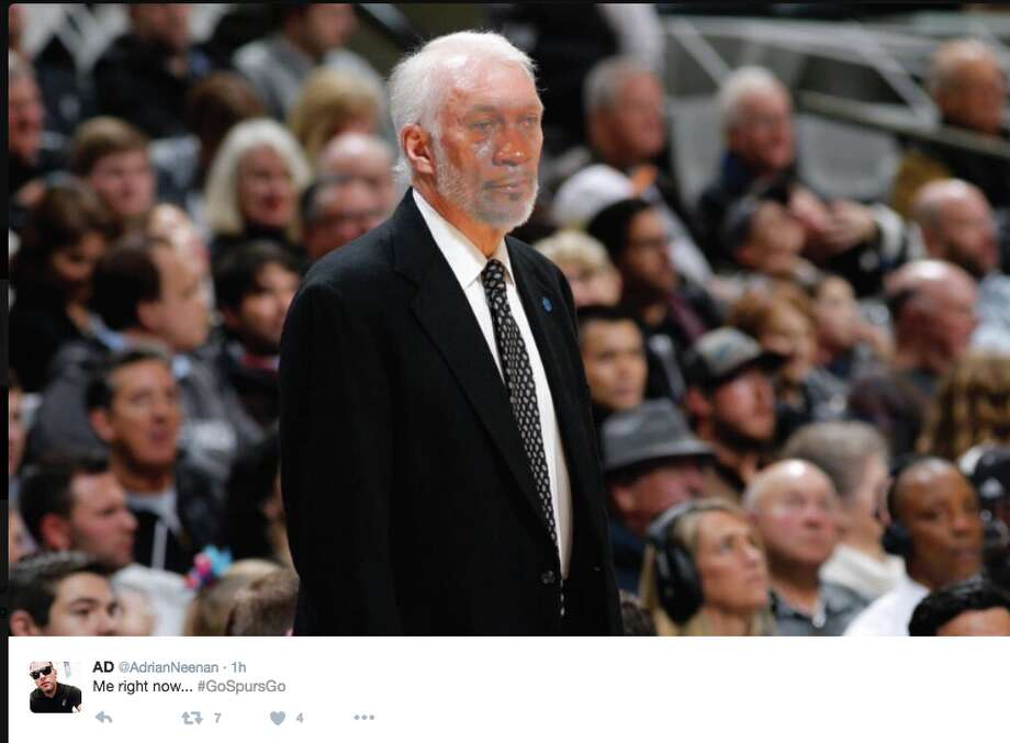 Spurs fans react to Game 4 loss to Oklahoma City Thunder. Photo: Twitter