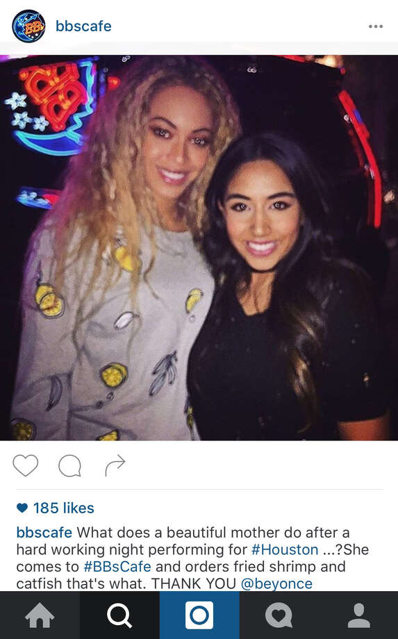 BB's CafeBeyoncé stopped by BB's Cafe in Montrose after her 2016 show and posed with employees for photos. According to the restaurant, she ordered fried shrimp and catfish. And was offered lemonade. Womp, womp. Photo: Instagram.com/bbscafe