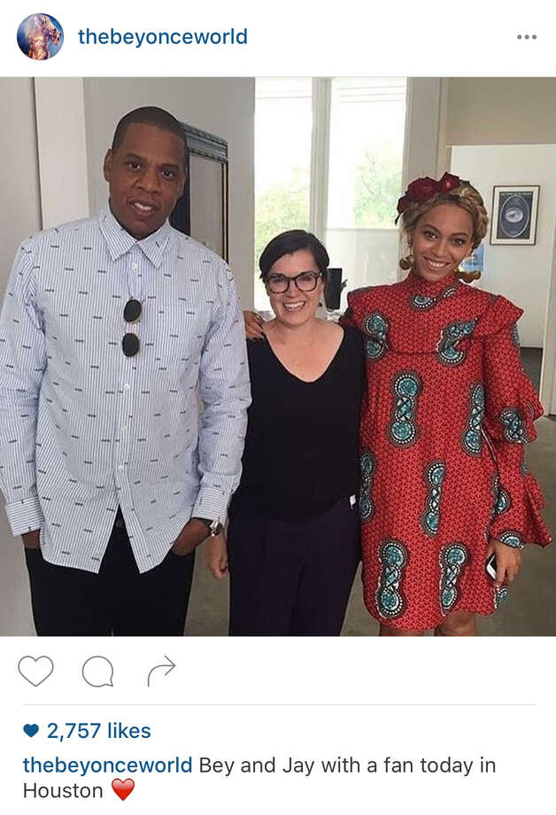 Beyoncé visited the Menil Collection in Houston with husband Jay Z.