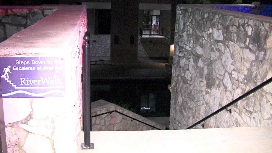Police say a man fell nearly 20 feet from a bridge in downtown San Antonio on Monday morning. Photo: 21 Pro Video
