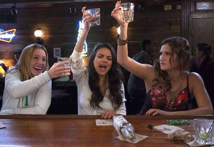 """Kristen Bell, from left, Mila Kunis and Kathryn Hahn in """"Bad Moms."""""""