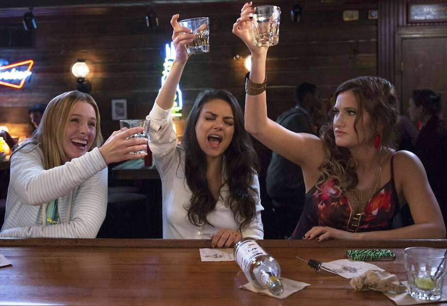Kristen Bell (left), Mila Kunis and Kathryn Hahn. Photo: Michele K. Short, STX Productions
