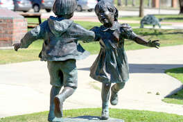 Art on display on the grounds of the Museum of the Southwest. Photographed March 27, 2015. James Durbin/Reporter-Telegram