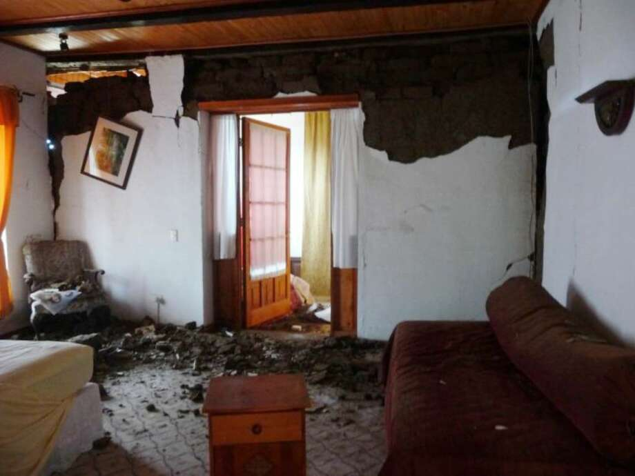 The 8.8-magnitude earthquake that struck Chile in February tore down a wall and inflicted other damage on the bed and breakfast Stamford residents Silvia Fernandez-Stein and Robin Stein operate in the coastal town of Cobquecura, Chile. Fernandez-Stein was in Cobquecura during the quake and assisted in humanitarian efforts. Now, still in Chile, she is seeking to repair the inn. Photo: Contributed Photo / Stamford Advocate Contributed