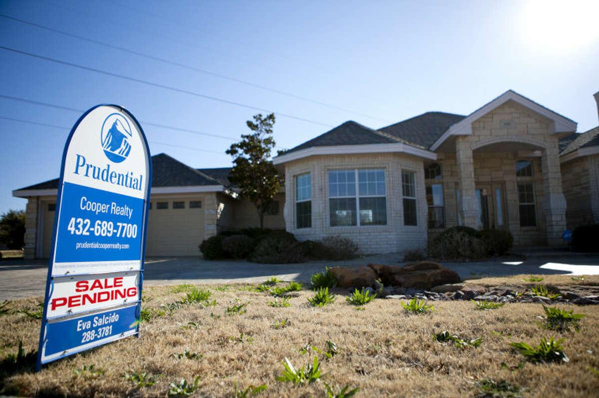 Home for sale in the Green Tree neighborhood, photographed Feb. 27, 2014. James Durbin/Reporter-Telegram