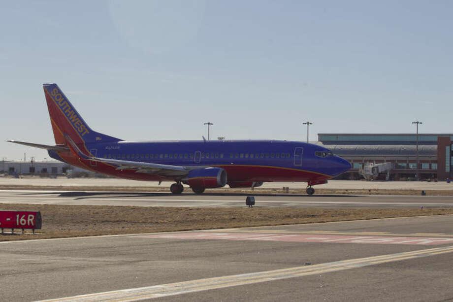 A Southwest Airlines Boeing 737 takes off from Midland International Airport, Feb. 13, 2014. James Durbin/Reporter-Telegram Photo: JAMES DURBIN