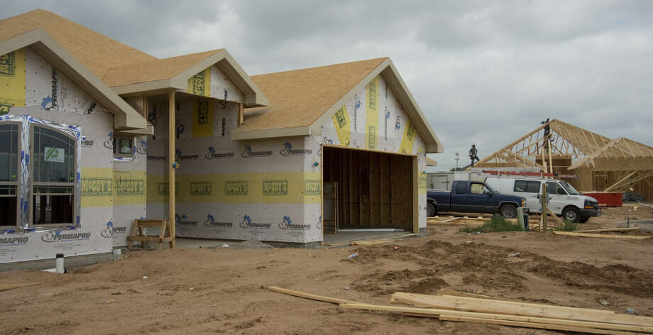 New homes being built Monday, 6-22-15, in the Daybreak Estates development off N. Big Spring Street. Tim Fischer\Reporter-Telegram