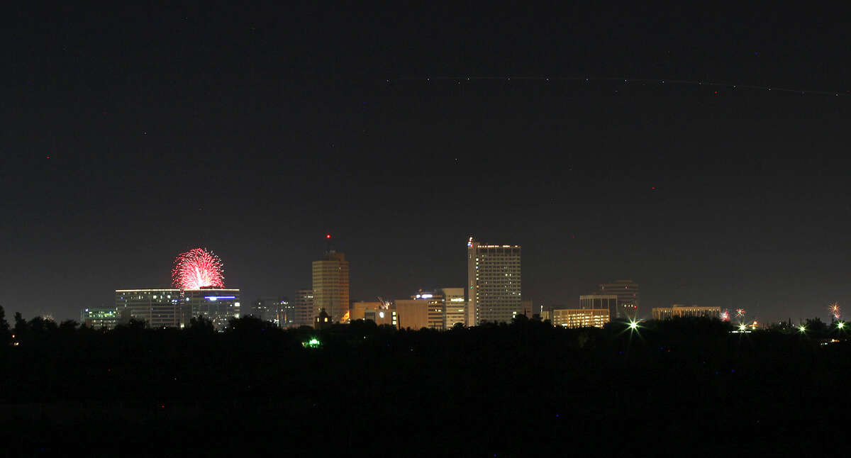 Star Spangled Salute fireworks display over Midland viewed from the roof of the Petroleum Museum on Saturday, July 4, 2015. James Durbin/Reporter-Telegram