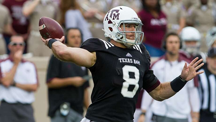Quarterback Trevor Knight, a former Reagan standout, passes during Texas A&M's spring game on April 9, 2016, at Kyle Field in College Station. Photo: Courtesy Photo /Texas A&M Athletics