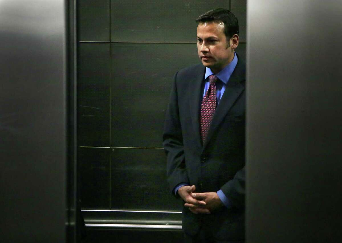 Mark Benavides, a local attorney accused of sexual assault and compelling prostitution in a 35-count indictment, appeared before Judge Dick Alcala in the 186th State District Court in the Cadena-Reeves Justice Center on Monday, May 9, 2016.