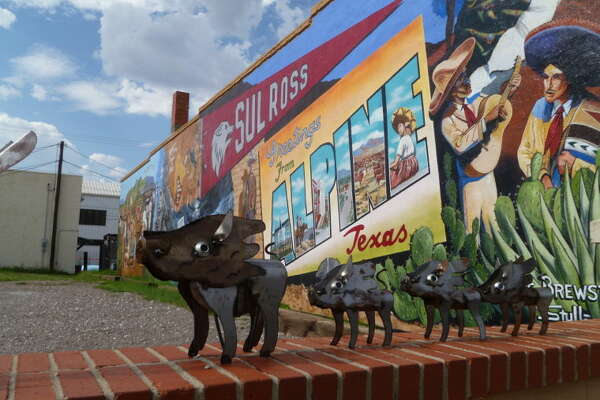 Artwork can be seen all over the streets of Alpine. This was next to Kiowa Gallery on Holland Avenue.
