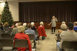 Barbara McBride-Smith tells stories during the Midland Storytelling Festival on Saturday, Dec. 12, 2015 at First Presbyterian Church. James Durbin/Reporter-Telegram