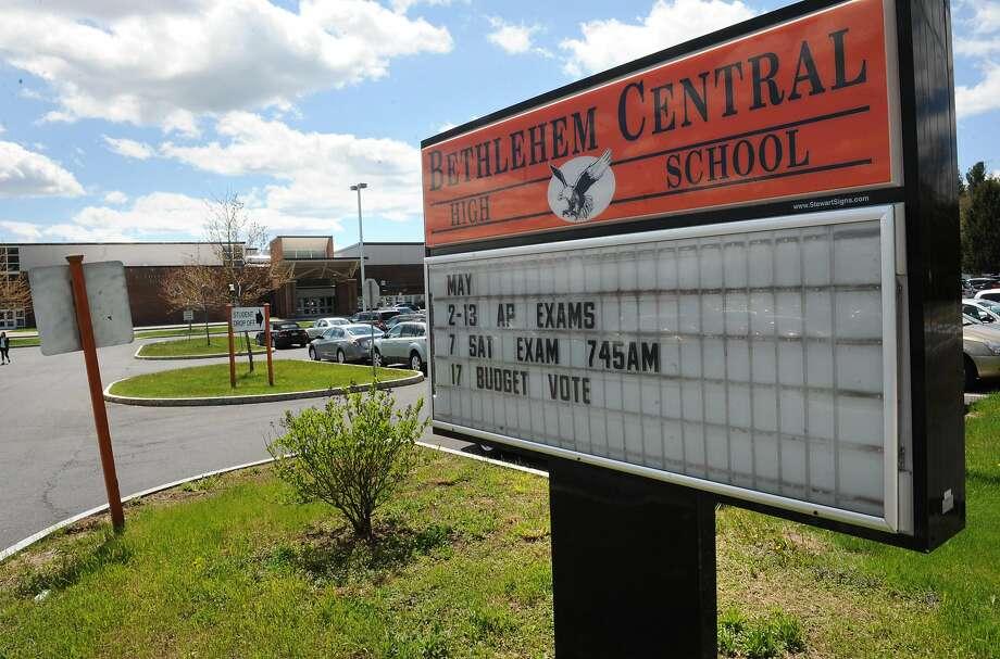 Exterior of Bethlehem High School on Monday, May 9, 2016 in Delmar, N.Y. (Lori Van Buren / Times Union) Photo: Lori Van Buren, Albany Times Union