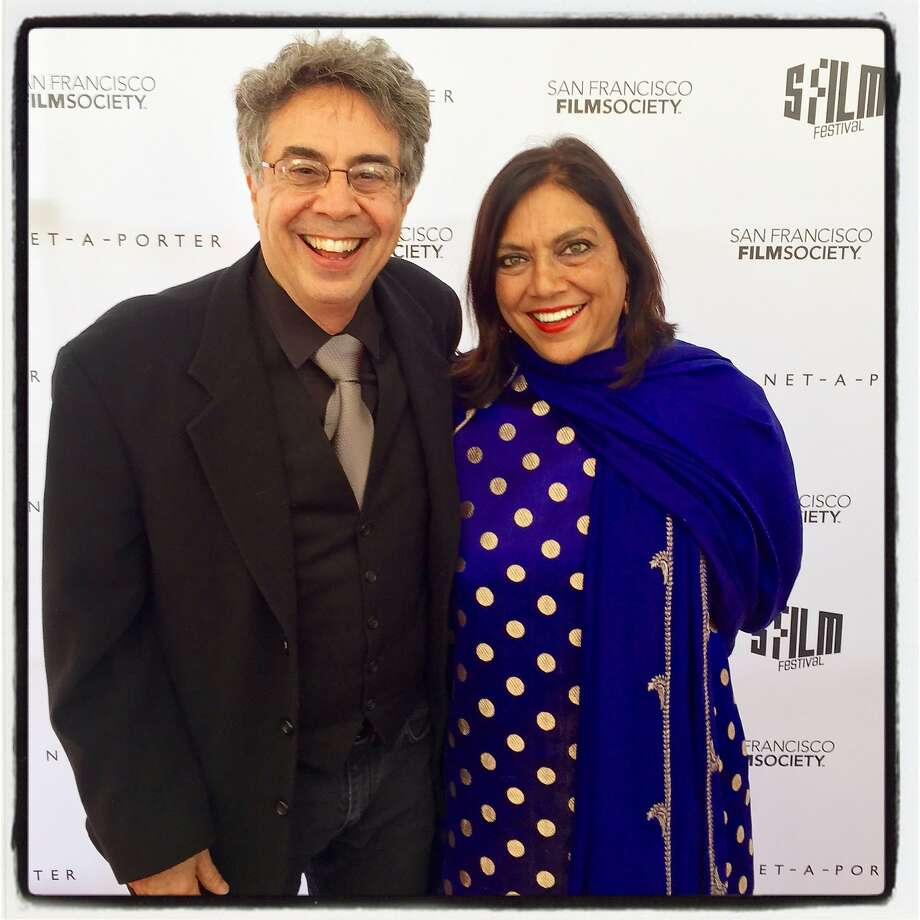 Berkeley Rep Artistic Director Tony Taccone and film director-honoree Mira Nair at the SFFS Awards Night. April 2016. Photo: Catherine Bigelow, Special To The Chronicle