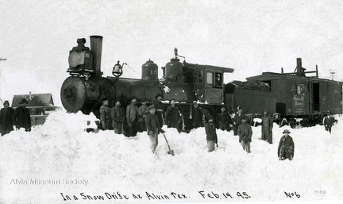 Alvin received three feet of snow on Feb. 14, 1895.