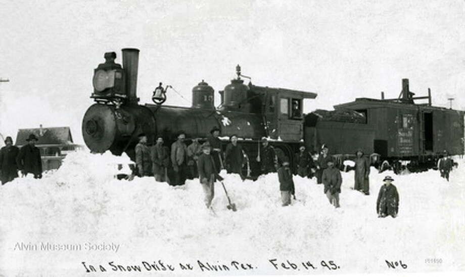 Alvin received three feet of snow on Feb. 14, 1895.  Photo: Alvin Museum History