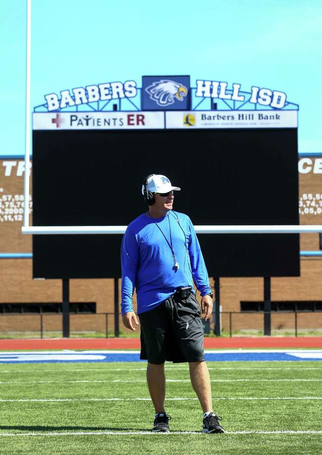 Tom Westerberg is not the only new coach at Barbers Hill this school year. The high school also is fielding soccer teams for the first time. The boys coach is Brian Moore, who was a varsity assistant at Allen - the same school Westerberg came from. Photo: Jon Shapley, Staff / © 2015  Houston Chronicle