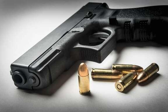 9mm handgun with bullets