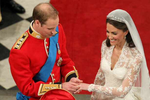 Kate's wedding band is made of gold that was mined in Wales.    And of course, her engagement ring is famously the same sapphire-and-diamond stunner that William's mother Princess Diana wore.