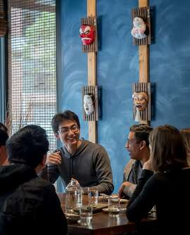 People have lunch at Okane in San Francisco, Calif., on May 6th, 2016.