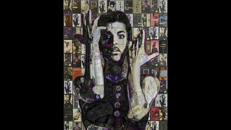 Prince portrait by Jason Mecier. Photo: Andre Torrez/KTVU