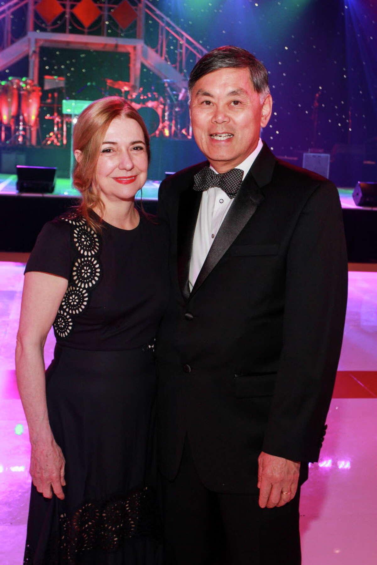Donna Moylan and Dr. Benjamin Chu