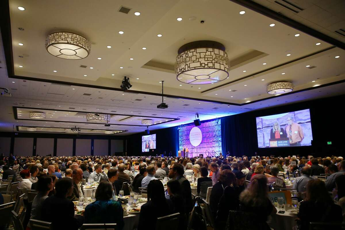 The Washington Alliance for Gun Responsibility held its annual luncheon, Monday, May 9, 2016, at the Seattle Westin. The event raised money for for ballot measure I-1491 which would provide for Extreme Risk Protection Orders that allow families and law enforcement to petition the court to temporarily suspend a person's access to firearms if there is evidence they are a threat to themselves or others. (Genna Martin, seattlepi.com)