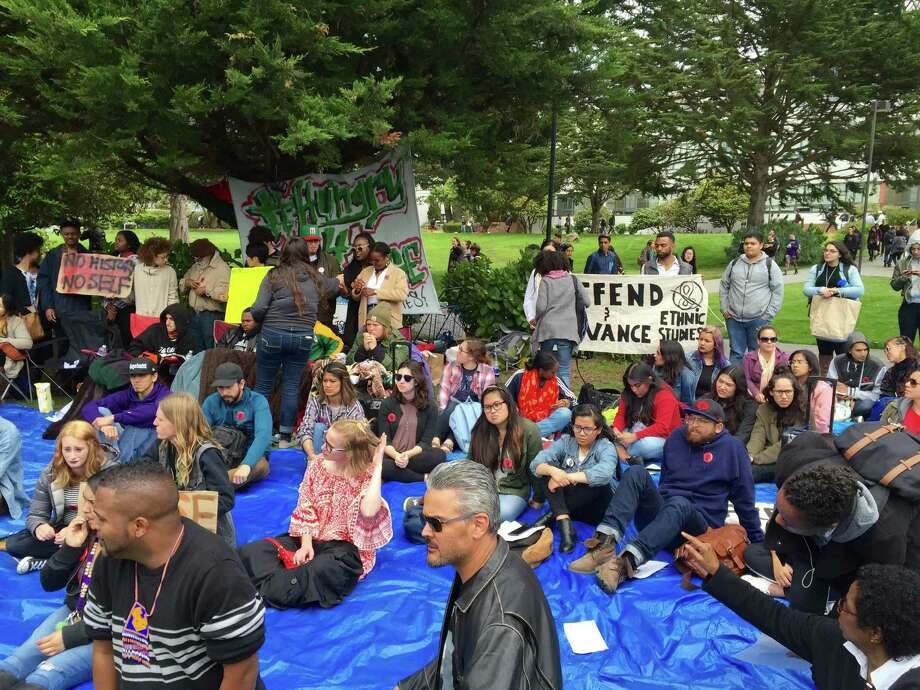 A rally was held Monday, May 9, 2016, supporting four students on a hunger strike to protest cuts made to the ethnic studies program at San Francisco State University. Photo: Steve Rubenstein / The Chronicle / /