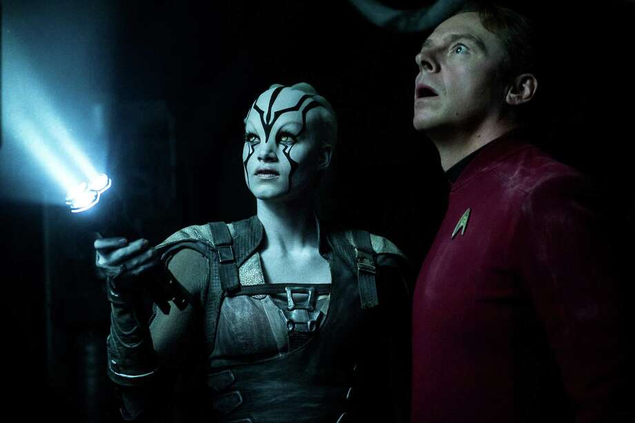 """Sofia Boutella and Simon Pegg appear in a scene from """"Star Trek Beyond."""" Photo: Paramount Pictures / Paramount Pictures"""