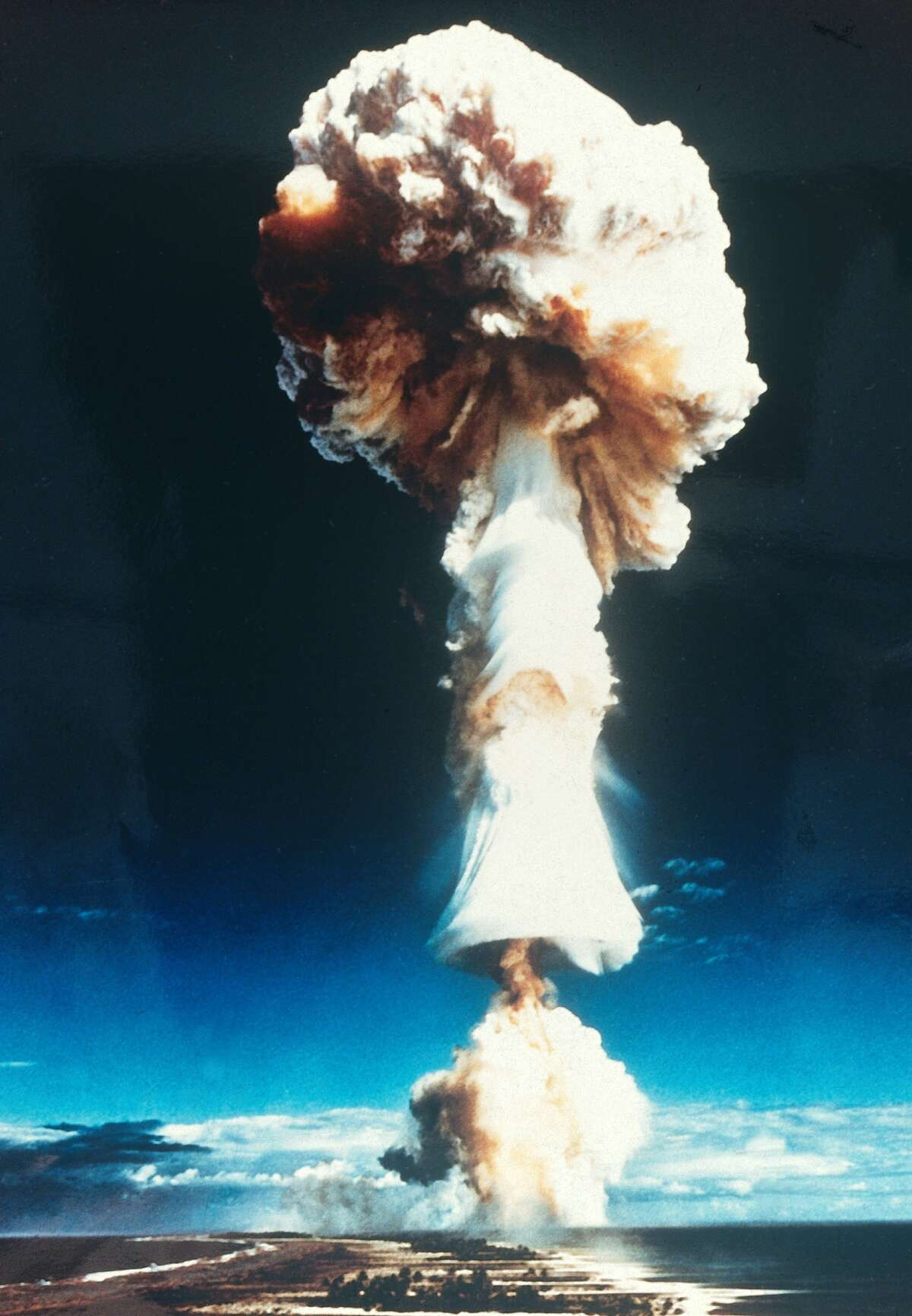 August 1968 France tested its first hydrogen bomb above Mururoa archipelago in the Pacific.