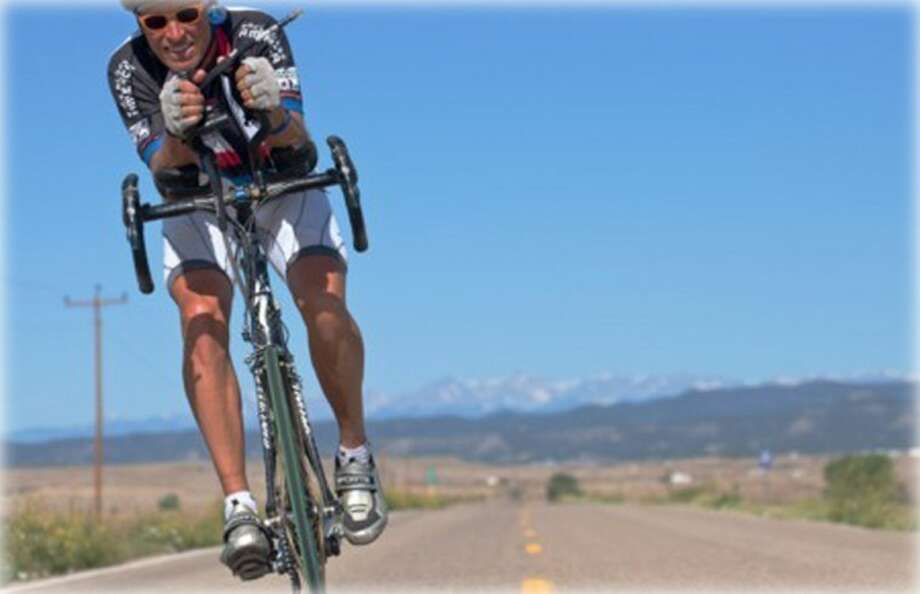 Dex Tooke, of Del Rio, bikes through Colorado during Race Across America. Photo: Courtesy Photo