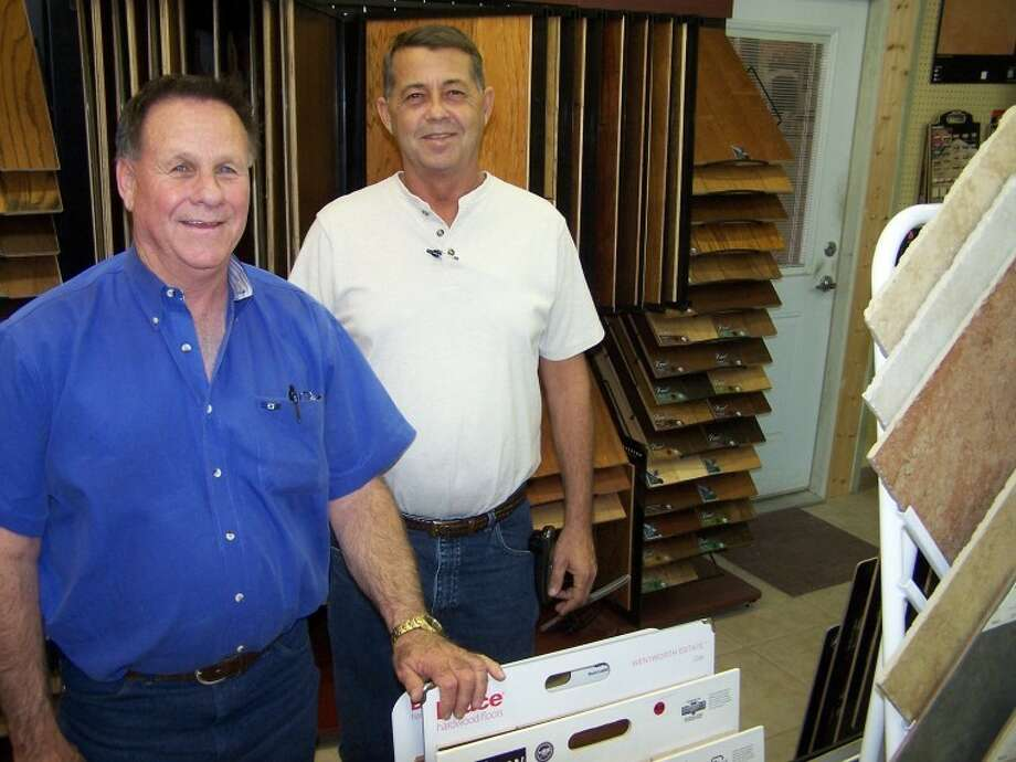 Tebo Vaughn (left) and Travis Kendrick at Southwest Floors will help you get the flooring you're comfortable with. Southwest Floors is at 1113 Andrews Highway.