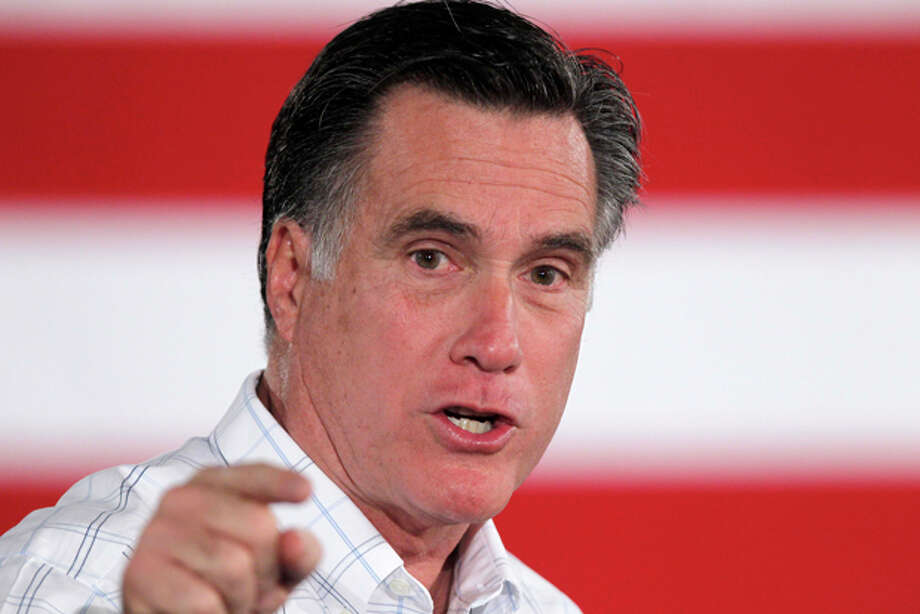 In this photo taken Thursday, Jan. 5, 2012, Republican presidential candidate former Massachusetts Gov. Mitt Romney speaks in Salem, N.H. Conservative leaders are encouraging their brethren to rally behind Rick Santorum or perhaps another conservative to counter Mitt Romney's rise in the presidential race. Virtually silent on the rollicking contest until now, these leaders of the GOP base burned up the phone lines and cyberspace Wednesday, energized by Santorum's single-digit loss to the well-funded Romney in Iowa. (AP Photo/Matt Rourke) Photo: Matt Rourke / AP