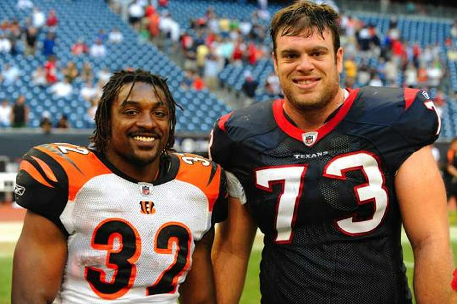 Benson's Bengals, left, and Winston's Texans, right, meet today in the NFL playoffs. Photo: Wade H Clay